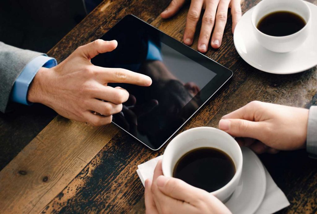 Coffee makes prospects easier to persuade