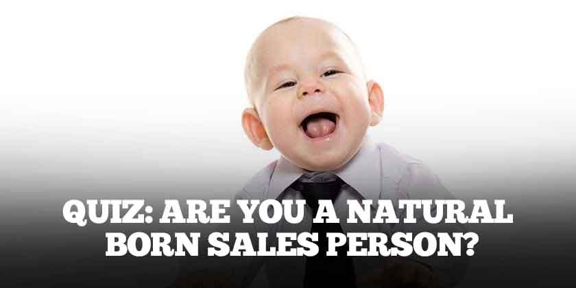 natural born salesperson quiz