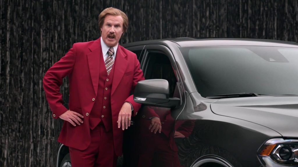 Is Ron Burgundy the worlds greatest car salesman?