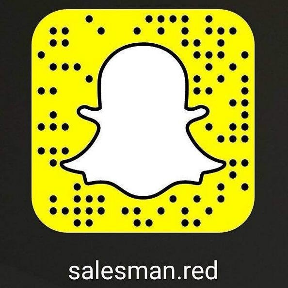 salesman red snapchat