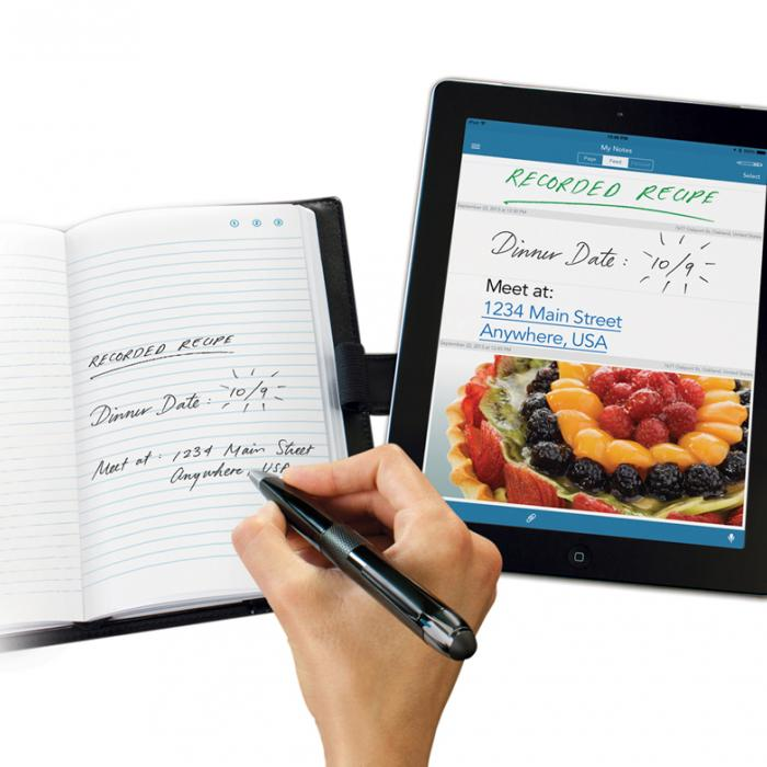 Writing on the Livescribe 3 smartpen Pro Edition journal