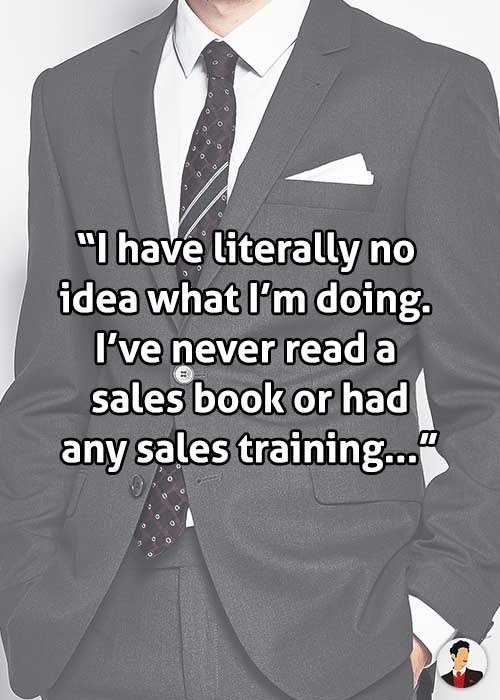 no sales training