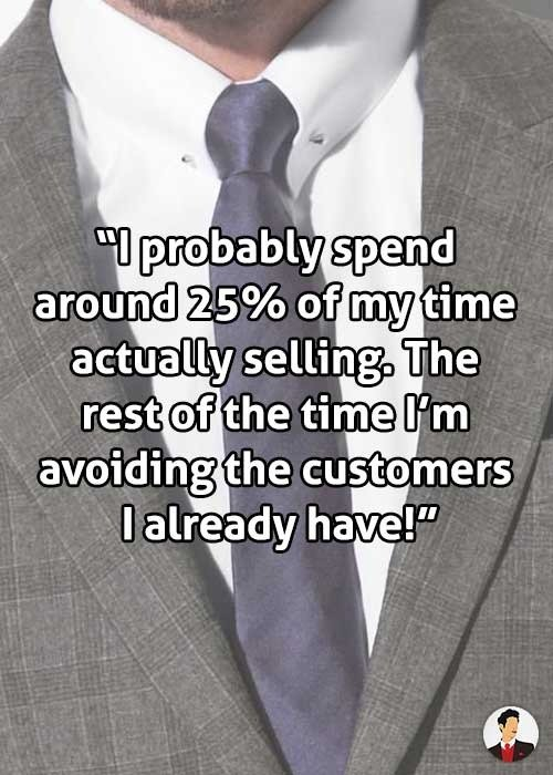 salespeople avoiding customers